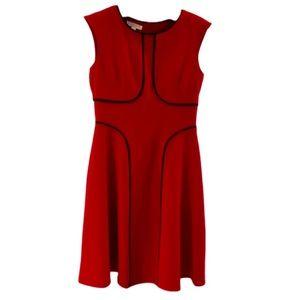 London Times red sheath dress